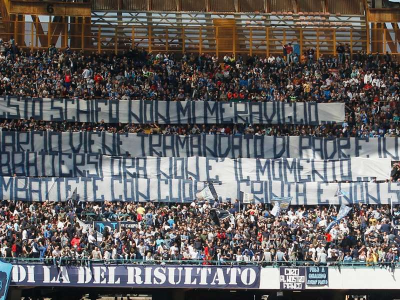 napoli fans banned from serie a juventus trip goal com napoli fans banned from serie a