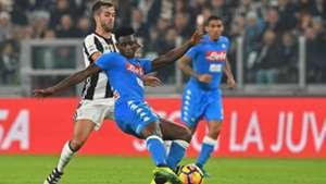 Miralem Pjanic Amadou Diawara Juventus Napoli Serie A 29102016