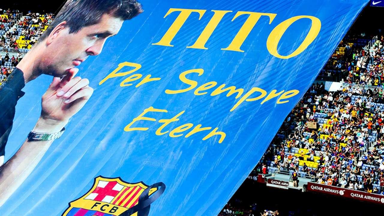 Banners Barcelona Tito Vilanova Tribute