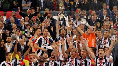 Juventus celebrating Coppa Italia