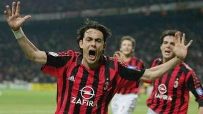 Filippo Inzaghi Milan Olympique Lyon UEFA Champions League 04042006