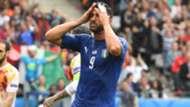 Graziano Pellè Italy Spain Euro 2016