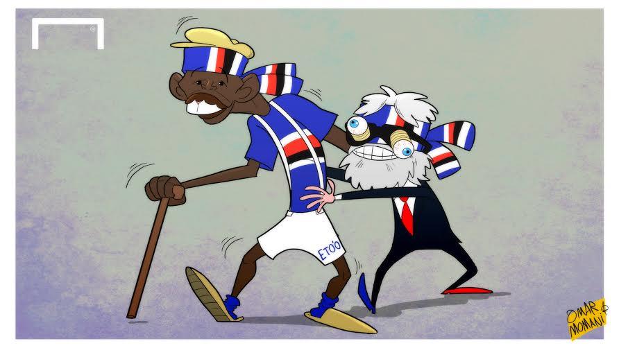 Eto'o-Sampdoria Cartoon