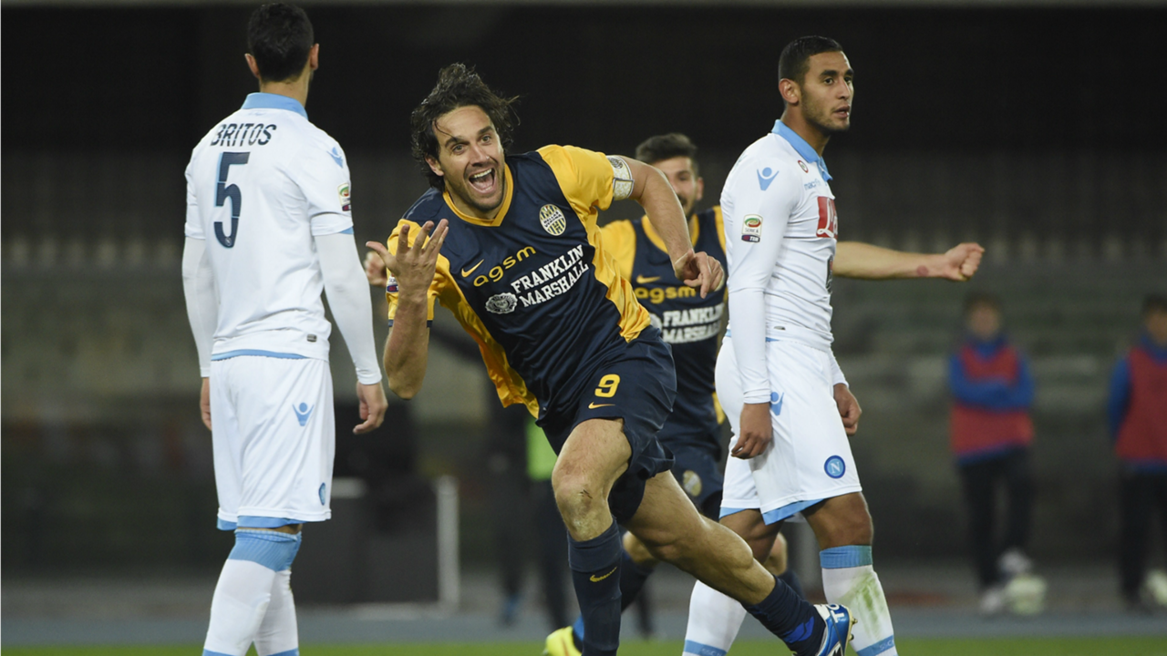 Luca Toni Verona Napoli Serie A 15032015