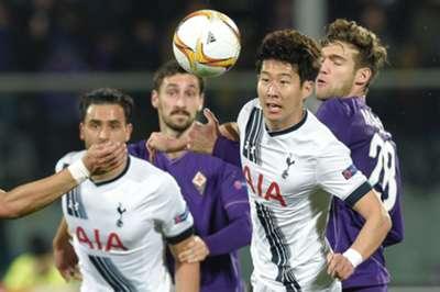 Marcos Alonso Heng-Min Son Fiorentina Tottenham