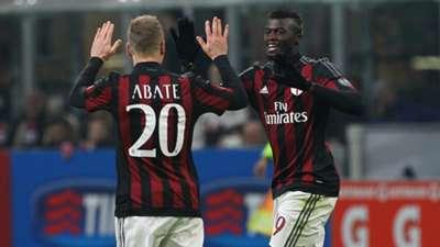 M'Baye Niang celebrates with Abate Milan Sampdoria Serie A 28112015