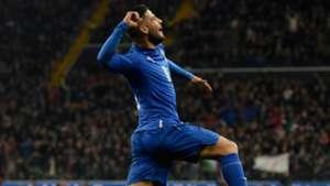 Lorenzo Insigne celebrates his scoring Italy Spain friendly 24032016