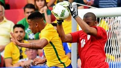 Gabriel Jesus Itumeleng Khune Brazil South Africa Rio 2016 Olympic Games