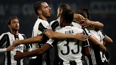 Juventus celebrating vs Sampdoria Serie A