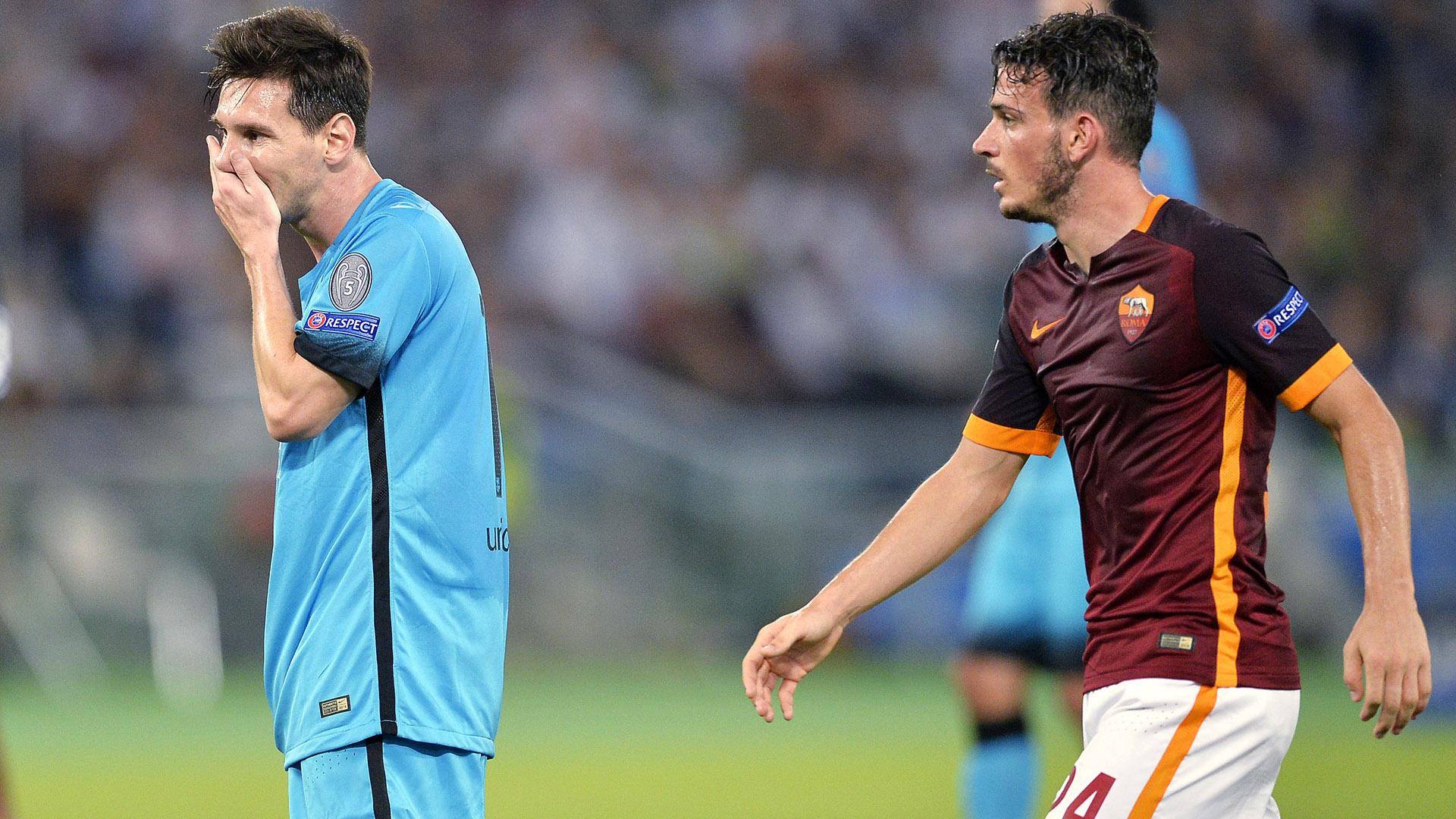 Messi Florenzi Roma Barcelona Champions League