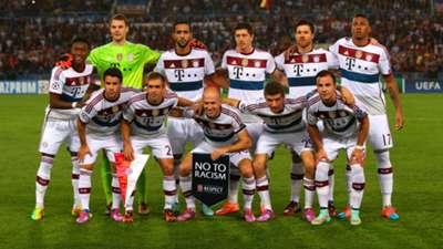 Bayern team against Roma Champions League