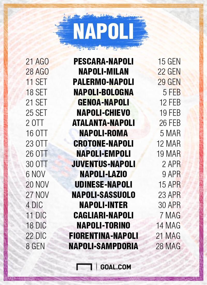 Calendario Ssc Napoli 2020.Napoli Calendario Serie A