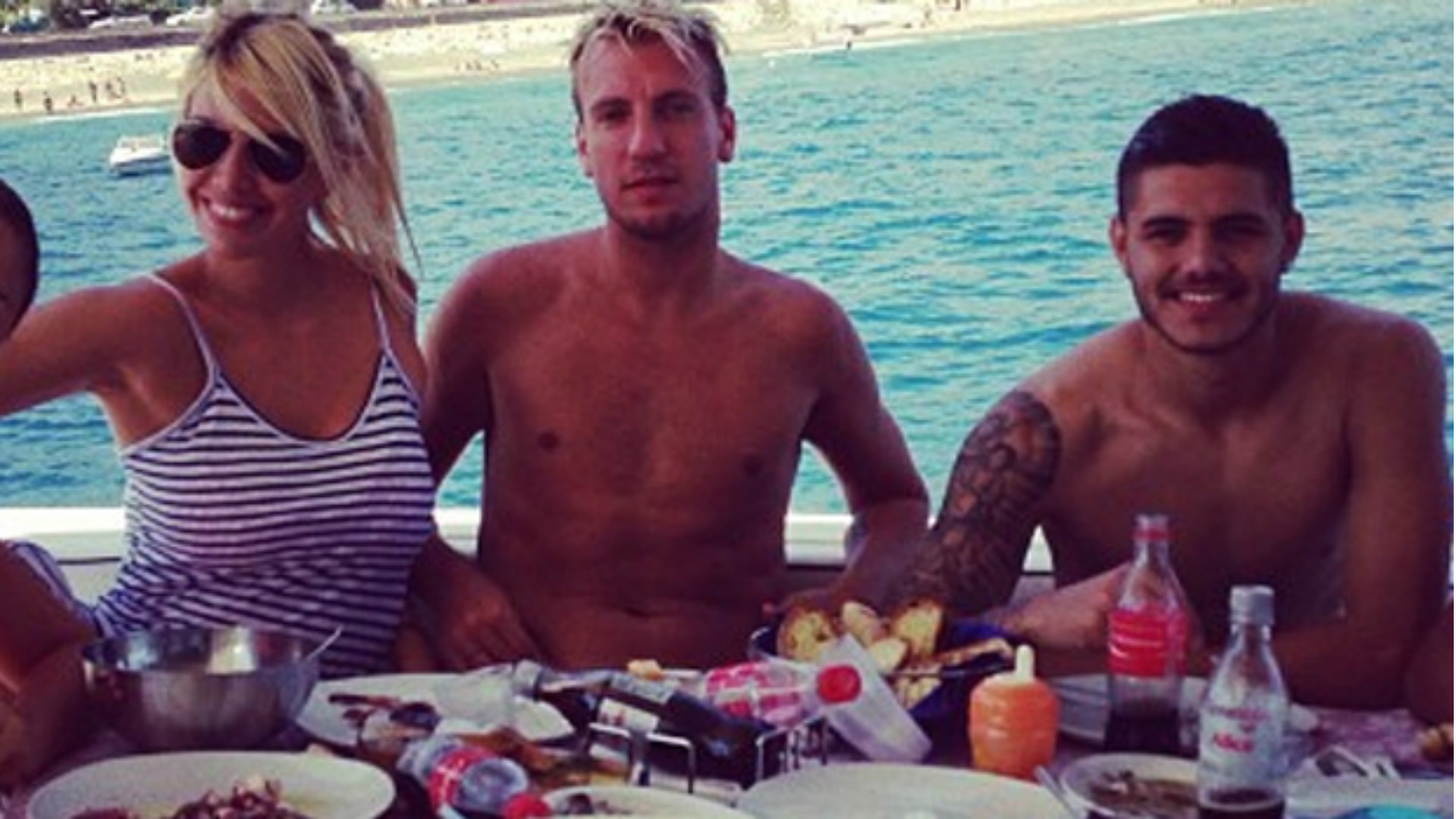 Icardi having a picnic with the Lopez family before the breakup and betrayal