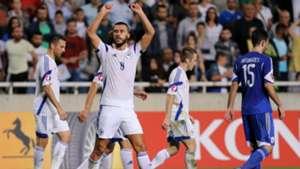 Bosnia celebrating Cyprus Bosnia Euro 2016