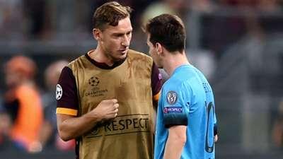 Totti Messi Roma Barcelona Champions League