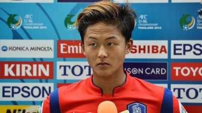 Lee Seung-Woo Korea Republic AFC U-16 Championship 14092014