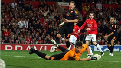 Wayne Rooney Manchester United AS Roma UEFA Champions League 02102007