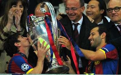 Lionel Messi and Javier Mascherano - UCL final 2011