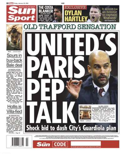 The Sun backpage 22012016