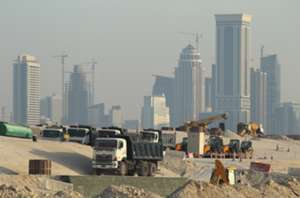 A construction site in Doha, Qatar