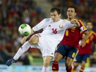 Balanovich Xavi Spain Belarus 2014 World Cup Qualifier 10112013