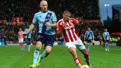 James Collins Jonathan Walters Stoke West Ham Premier League 01112014
