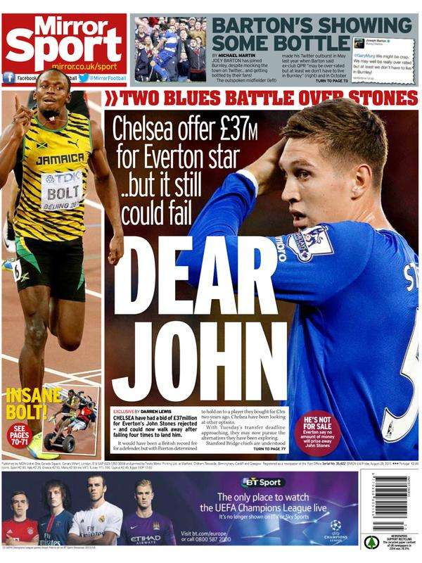 Daily Mirror back page 28082015