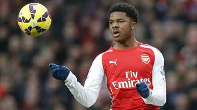 Chuba Akpom Premier League Arsenal v Aston Vaill 010215