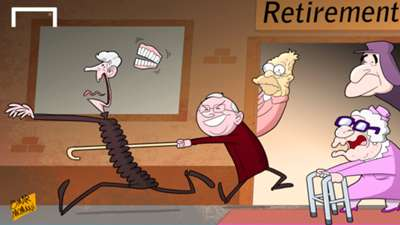 Cartoon Wenger retirement