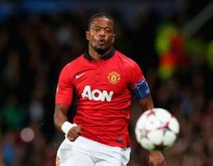 Manchester United full-back Patrice Evra