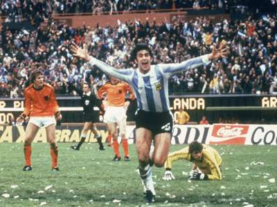 Mario Kempes Argentina Holland FIFA World Cup 06251978