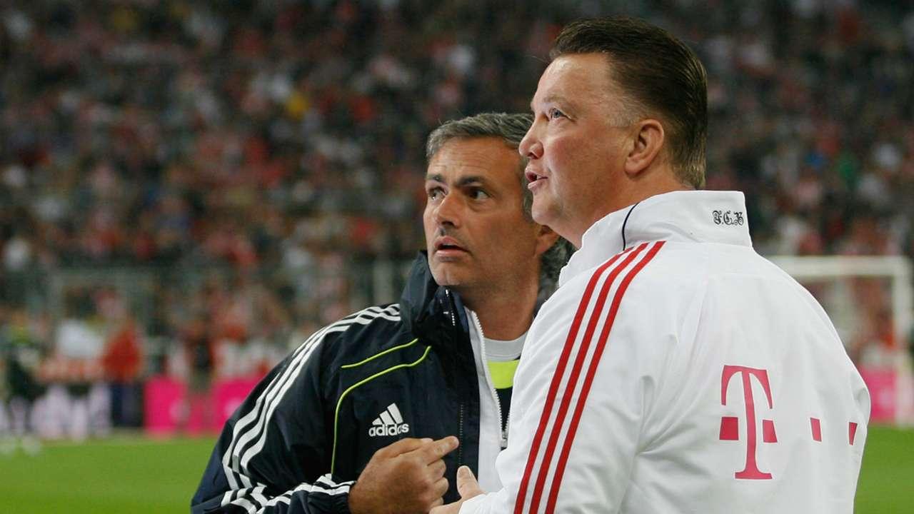 Jose Mourinho, Louis van Gaal   Champions League