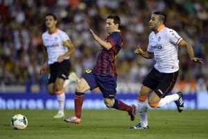 Lionel Messi, Adil Rami, Valencia v Barcelona - Liga BBVA