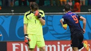 Iker Casillas Robin van Persie Netherlands Spain World Cup 13062014