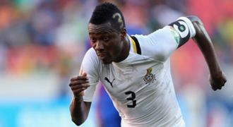 Ghana striker Asamoah Gyan scored two goals against Egypt