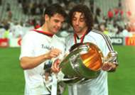 Iván Campo and Fernando Morientes, Real Madrid former players