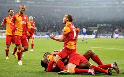 UCL: Schalke vs Galatasaray players celebration