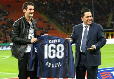 Cristian Chivu with special shirt Inter Bologna Serie A