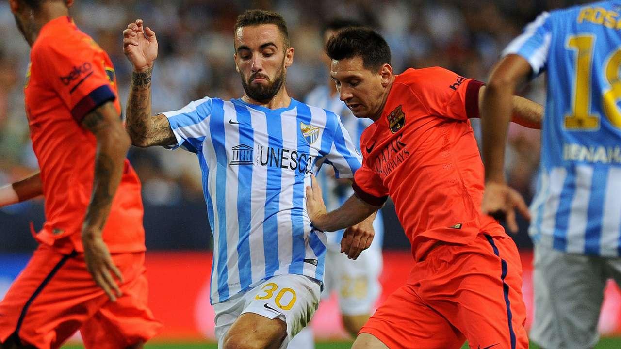 Lionel Messi Sergi Darder Malaga Barcelona La Liga 24092014