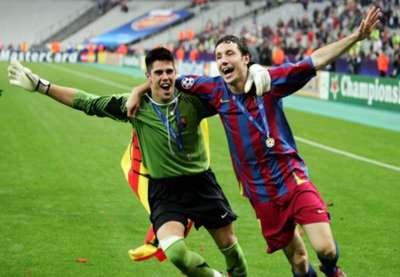 Victor Valdes Mark van Bommel FC Barcelona 2006