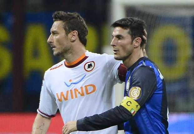Francesco Totti Javier Zanetti Roma Inter Serie A