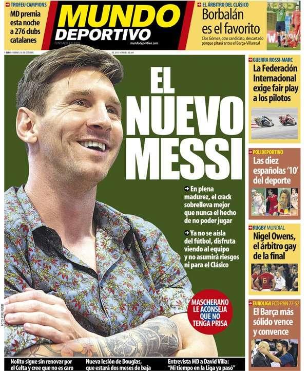 Mundo Deportivo back page 301015