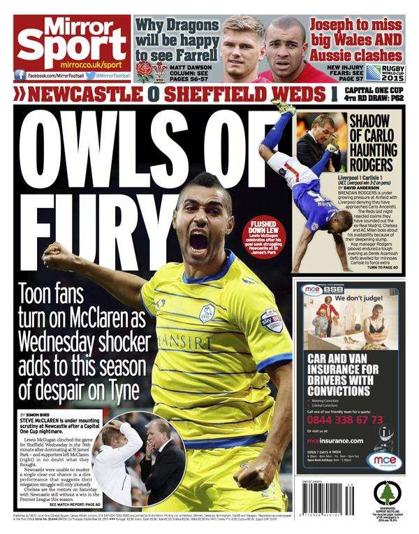 The Mirror backpage 24-04-2015