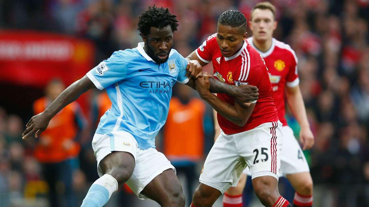 Wilfried Bony Premier League Manchester United v Manchester City