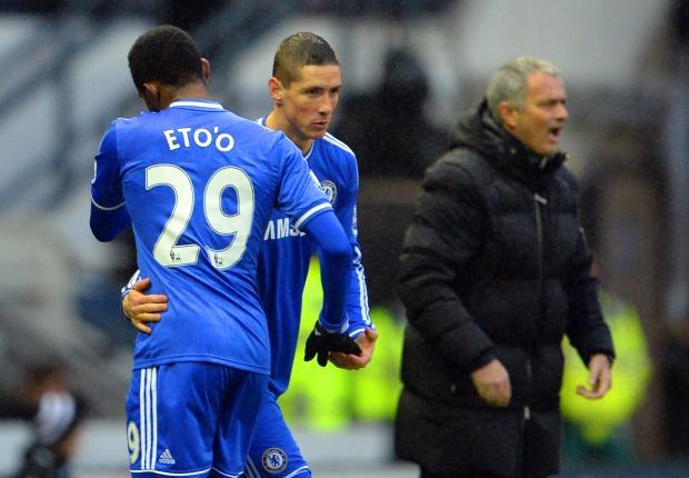 Samuel Eto'o v Fernando Torres v Jose Mourinho