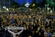 Real Madrid supporters celebration Cibeles Champions League