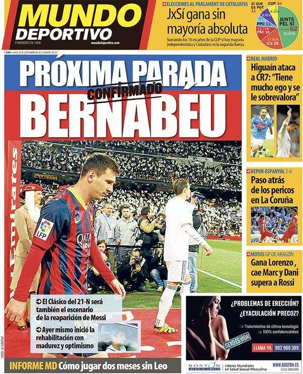Mundo Deportivo back page 28092015