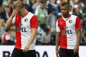 Ruud Vormer en Tonny Vilhena, Feyenoord - FC Twente