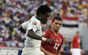 Gyan Asamoah Ghana Hossam Ghaly Egypt Africa Cup of Nations 2010  final match