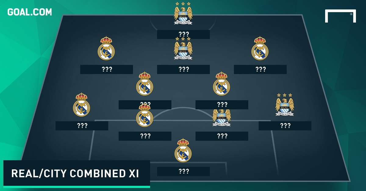 Manchester City & Real Madrid combined XI